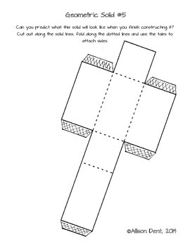 Fun with Nets! Foldable 3D shapes and activity sheet