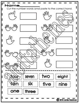 NUMBER Activities Kindergarten