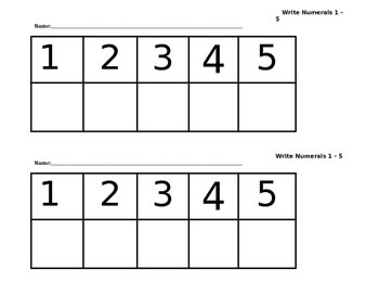 Fun with Numbers - Pre K, K, 1st, and 2nd Grades
