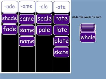 Fun with Phonograms Word Families Smartboard