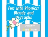 Fun with Phonics:  Blends and Digraphs Literacy Center
