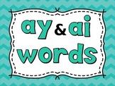 Fun with Phonics Practice - ay & ai words