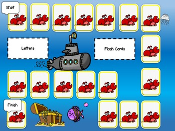 Fun with Phonics Primary Learning Game Board Center Fish Theme