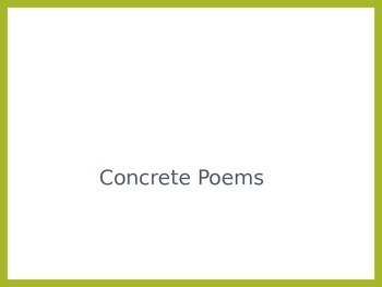 Fun with Poetry Writing: Concrete Poems