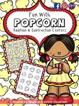 Fun with Popcorn {Addition and Subtraction Centers}