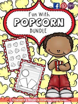Fun with Popcorn BUNDLE (Math Centers, Word Work)