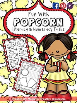 Fun with Popcorn {Literacy and Numeracy Centers}