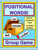 """Positional Words!"" -- Group Game, Craft, and 15 Word Wall Cards"