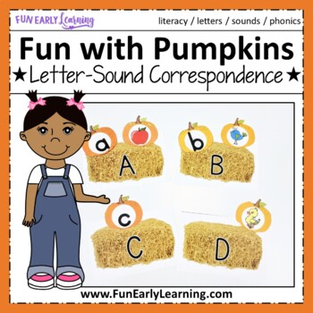 Fun with Pumpkins! Letter Identification & Sound Activity {Common Core}