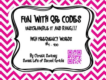 Fun with QR Codes:Unscramble It and Bang!!