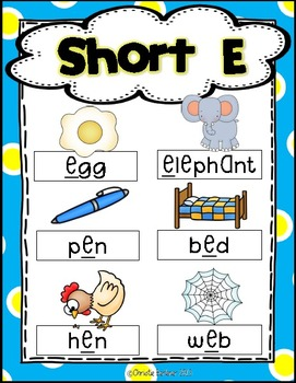 Fun with Short E! {Common Core Word Work Activities}