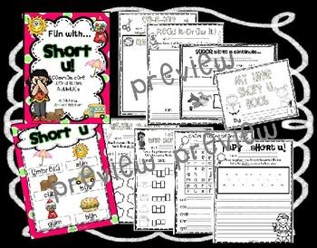 Fun with Short U! {Common Core Word Work Activities}