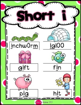 Fun with Short i! {Common Core Word Work Activities}