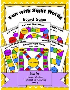 Fun with Sight Words Board Game