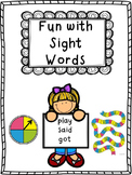 Fun Sight Words Bundle based on Jan Richardson Level A to E (1-8)