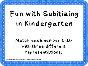 Fun with Subitizing in Kindergarten