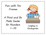 Fun with Ten Frames Math Center