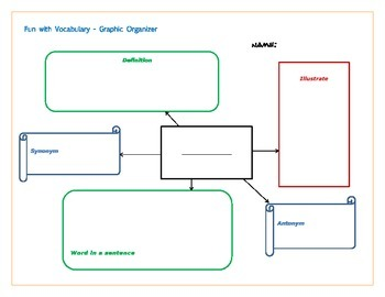 Fun with Vocabulary Graphic Organizer
