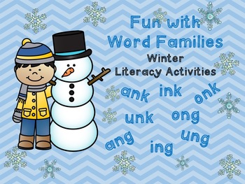 Fun with Word Families Winter Literacy Centers