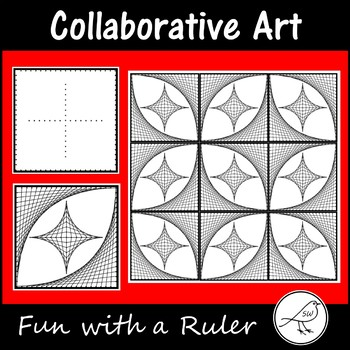 Fun with a Ruler - Collaborative Art Project using Parabolic Curves