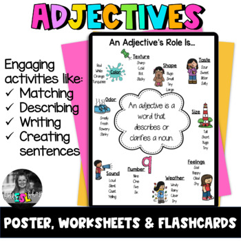 ESL Adjectives ESL Flashcards, Worksheets & Activities