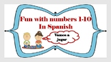 Fun with numbers 1 - 10 in Spanish