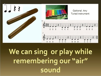 "Fun with phonics and music.  trigraph ""air"" song and percussion video"