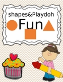 Fun with shapes and playdoh
