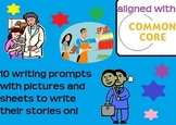 Fun writing prompts with pictures and paper to write stories on!!!!