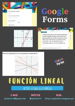 Función Lineal con #GoogleForms
