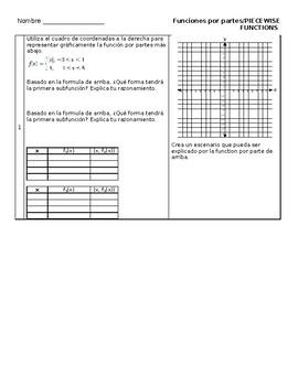 Funciones por partes / Piecewise Functions