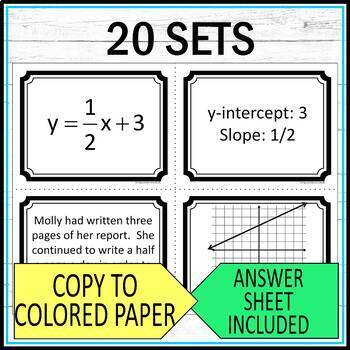 Function Task Cards Middle School Math