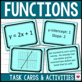 Functions Task Cards Middle School Math