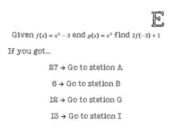 Function Composition Scavenger Hunt