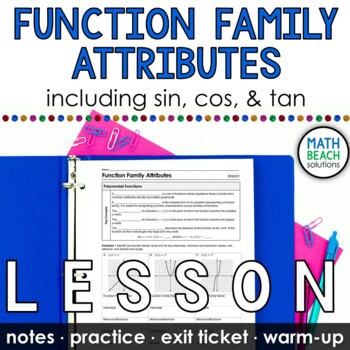 Function Family Attributes Lesson