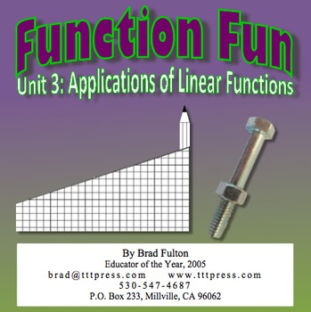 Function Fun, Part 3: Applications of Functions