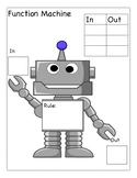 Function Machine My Rule In and Out Template Graphic Organizer