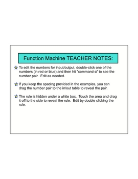 Function Machine for SMART Board