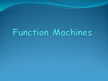 Function Machines