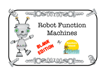 Function Machines Blank Printables - Add, Subtract, Multiply, Divide