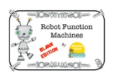 Function Machines Blank Printables - Add, Subtract, Multip