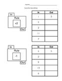 Function Machines Independent Practice