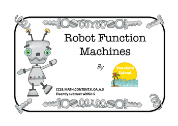 Function Machine Printables - Subtract within 5