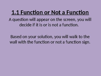 Function/Not a Function Walk