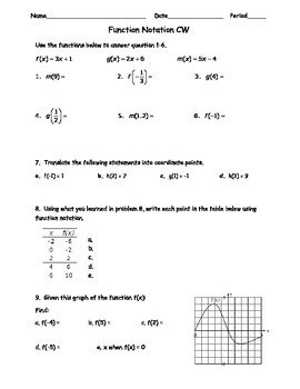 Function Notation 1