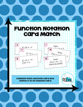 Function Notation Card Match