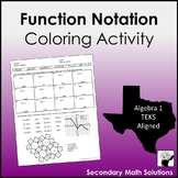 Function Notation Coloring Activity (A12B)