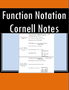 Function Notation Cornell Notes
