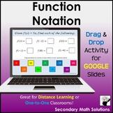 Function Notation Digital Drag & Drop Activity - Distance