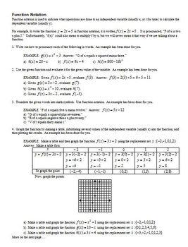Function Notation Fall 2010 (Editable)